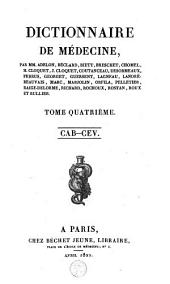 Dictionnaire de médecine: Volume4