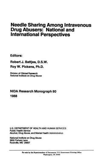 NIDA Research Monograph PDF