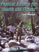 Physical Activity for Health and Fitness Lab Manual PDF