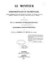 Le Moniteur des Indes-Orientales et Occidentales: Volume 1