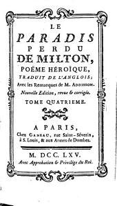 Le paradis perdu: poème héroïque, Volume4