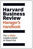 Harvard Business Review Manager s Handbook PDF