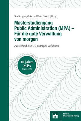 Masterstudiengang Public Administration Mpa Fur Die Gute Verwaltung Von Morgen