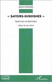 SAVOIRS-ENSEIGNES