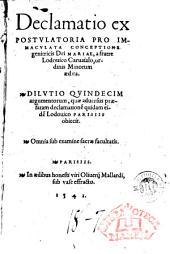 Declamatio expostulatoria pro Immaculata Conceptione genitricis Dei Mariae