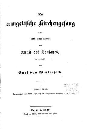 Der evangelische Kirchengesang und sein Verh  ltniss zur Kunst des Tonsatzes PDF