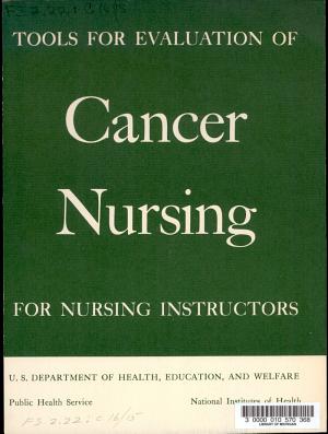 Tools for Evaluation of Cancer Nursing for Nursing Instructors PDF