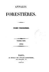 Annales forestières: Volume13