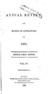 The Annual Review and History of Literature: Volume 4