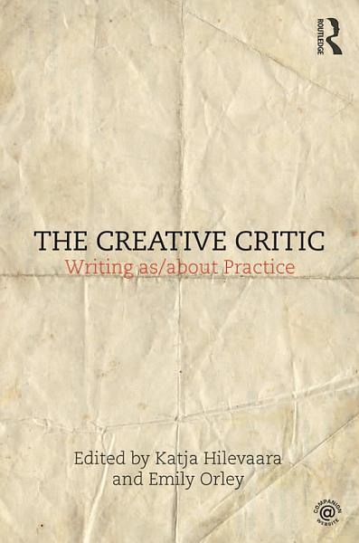 Download The Creative Critic Book