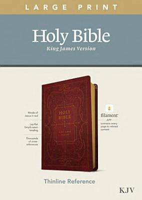 KJV Large Print Thinline Reference Bible  Filament Enabled Edition  Red Letter  Leatherlike  Burgundy