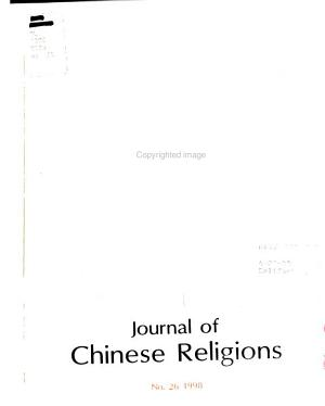 Journal of Chinese Religions PDF
