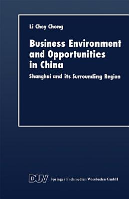 Business Environment and Opportunities in China PDF