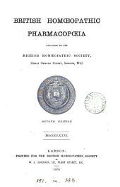 British Homœopathic Pharmacopœia