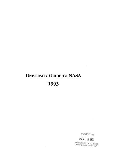University Guide to NASA  1993 PDF