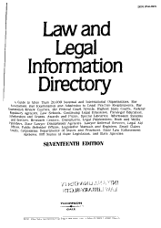 Law And Legal Information Directory Book PDF