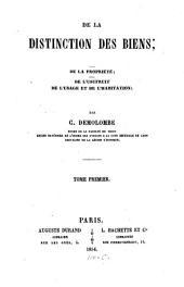 Cours de code Napoléon: De la distinction des biens ... ; 1, Volume9