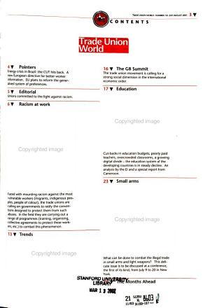 Trade Union World PDF