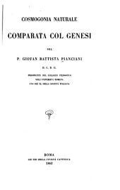 Cosmogonia naturale comparata col Genesi