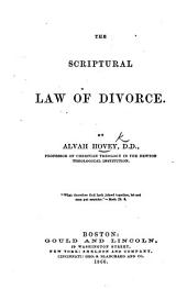 The Scriptural Law of Divorce