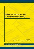 Materials  Mechanics and Information Engineering PDF