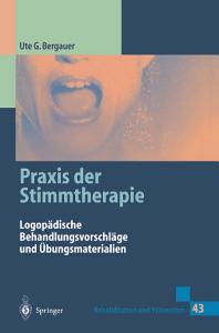 Praxis der Stimmtherapie PDF