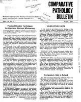 Comparative Pathology Bulletin PDF