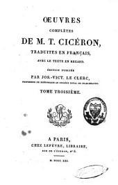 Oeuvres complètes de M.T. Cicéron: Volume3