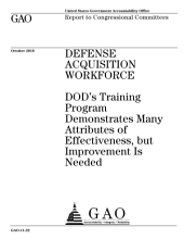 Defense Acquisition Workforce: DoD¿s Training Program Demonstrates Many Attributes of Effectiveness, But Improvement Is Needed