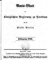 Amtsblatt der Regierung in Potsdam: 1853
