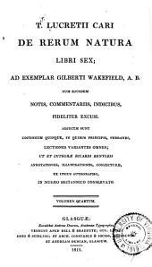 De rerum natura libri sex: Volume 4