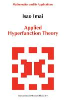 Applied Hyperfunction Theory PDF