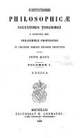 Institutiones philosophicae Salvatoris Tongiorgi      Logica PDF