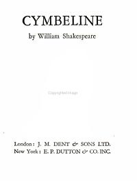 Cymbeline Book