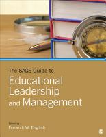 The SAGE Guide to Educational Leadership and Management PDF