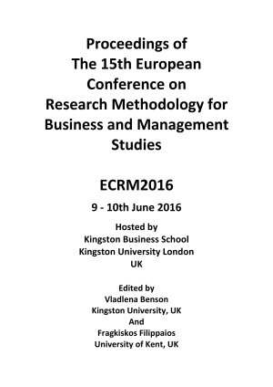 ECRM2016 Proceedings of the 15th European Conference on Research Methodology for Business Management   PDF