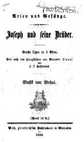 Joseph und seine Bruder: grosse Oper in 3 Akten