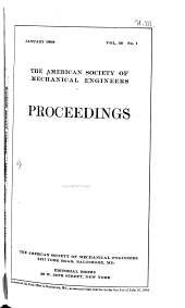 Proceedings of the American Society of Mechanical Engineers: Volume 30, Issue 1
