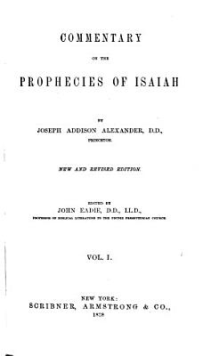 Commentary on the Prophecies of Isaiah PDF