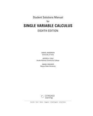 Student Solutions Manual  Chapters 1 11 for Stewart s Single Variable Calculus  8th