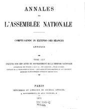 Annales de l'assemblée nationale: compte-rendu in extenso des séances annexes, Volume25