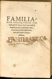 Formulae familiarium colloquiorum