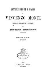 Lettere inedite e sparse di Vincenzo Monti: 1771-1807; v. 2. 1808-1828
