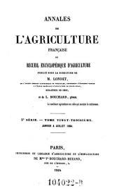 Annales de l'agriculture francoise. Red. par ... Tessier: Volume5;Volume23