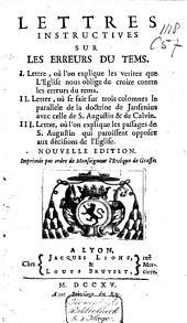 Lettres instructives sur les erreurs du tems: Volume1