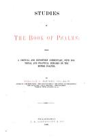 Studies in the Book of Psalms PDF