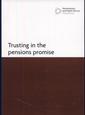 Trusting in the Pensions Promise PDF