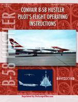Convair B 58 Hustler Pilot s Flight Operating Instructions PDF
