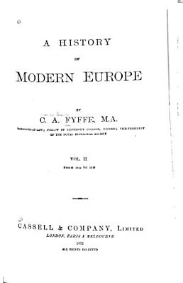 A History of Modern Europe  1792 1878
