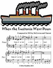 When the Lusitania Went Down - Easiest Piano Sheet Music Junior Edition